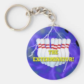 Porte - clé de champion de bowling porte-clé rond