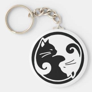 Porte - clé de chats de Yin Yang Porte-clés