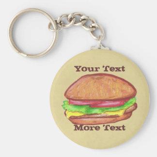 Porte - clé de cheeseburger porte-clé rond