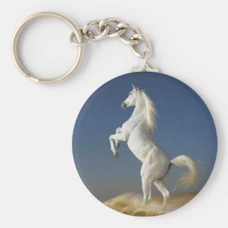 Porte - clé de cheval blanc porte-clé rond