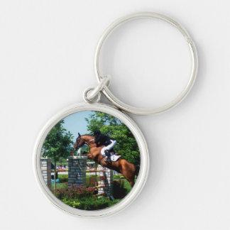 Porte - clé de cheval de Grand prix Porte-clé Rond Argenté