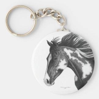 Porte - clé de cheval de Pinto Porte-clé Rond