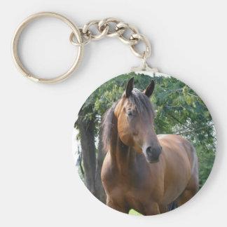Porte - clé de cheval de pur sang de baie porte-clé rond