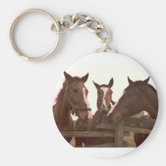 Porte - clé de cheval porte-clé rond