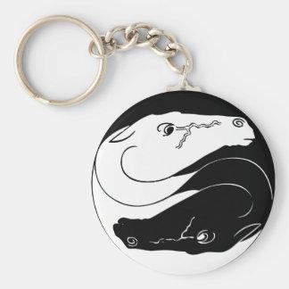Porte - clé de chevaux de Yin Yang Porte-clé Rond
