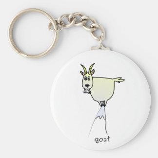 Porte - clé de chèvre de montagne porte-clé rond