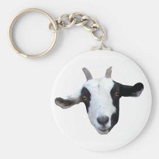 Porte - clé de chèvre d'Idiot-Visage Porte-clé Rond
