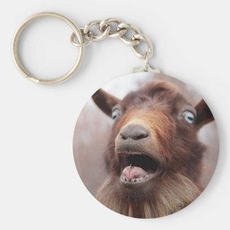 Porte - clé de chèvre porte-clé rond