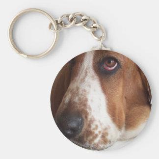 Porte - clé de chien de Basset Hound Porte-clé Rond