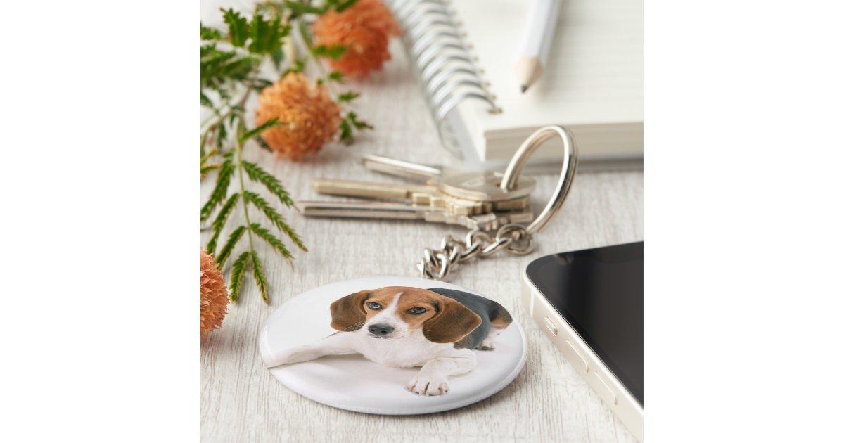 porte cl de chien de beagle porte cl rond zazzle. Black Bedroom Furniture Sets. Home Design Ideas