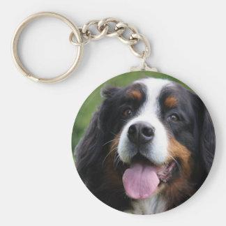 Porte - clé de chien de montagne de Bernese, idée Porte-clé Rond
