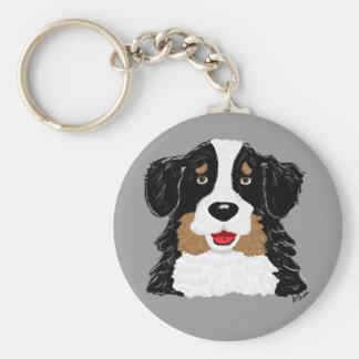 Porte - clé de chien de montagne de Bernese Porte-clé Rond