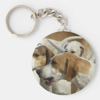 Porte - clé de chiens de chasse porte-clé rond