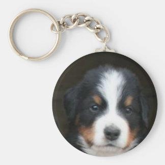 Porte - clé de chiot de chien de montagne de porte-clé rond