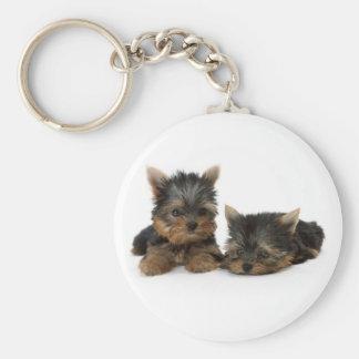 Porte - clé de chiots de Yorkshire Terrier Porte-clé Rond