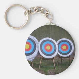 Porte - clé de cible porte-clé rond
