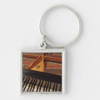 Porte - clé de clavier de piano porte-clé carré argenté