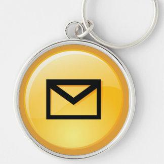 Porte - clé de clé de boîte postale porte-clé rond argenté