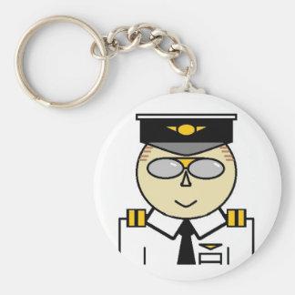 Porte - clé de co-pilote porte-clé rond