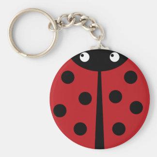 Porte - clé de coccinelle porte-clé rond