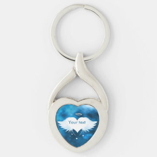 Porte - clé de coeur tordu par métal - ange du porte-clés