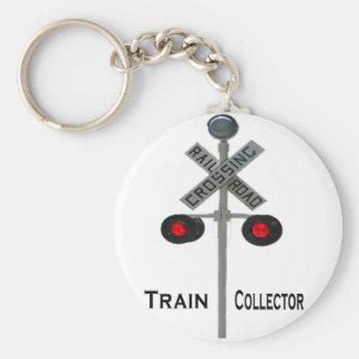Porte - clé de collecteur de train porte-clé rond