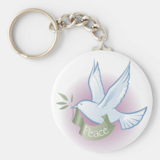 Porte - clé de colombe de paix porte-clés
