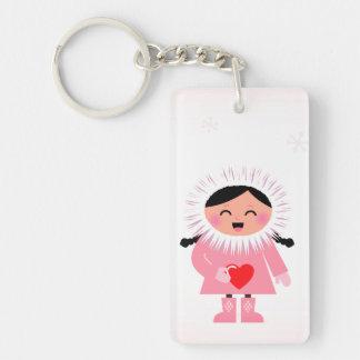 Porte - clé de concepteurs avec la fille porte-clé rectangulaire en acrylique double face