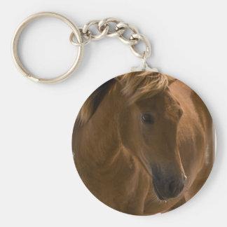 Porte - clé de conception de cheval de châtaigne porte-clés