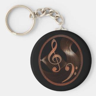 Porte - clé de conception de musique de Steampunk Porte-clés