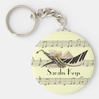 Porte - clé de conception de musique porte-clés