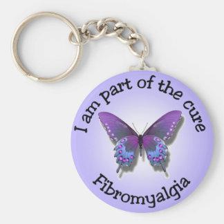 Porte - clé de conscience de fibromyalgie porte-clé rond