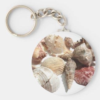 Porte - clé de coquillages porte-clé rond