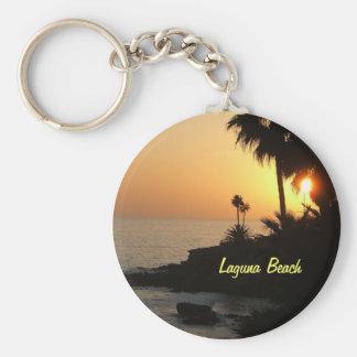 Porte - clé de coucher du soleil d'océan de Laguna Porte-clé Rond