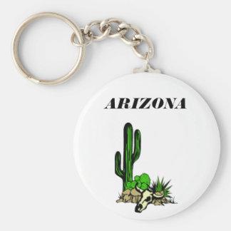 Porte - clé de crâne de Cactusand de l'Arizona Porte-clé Rond