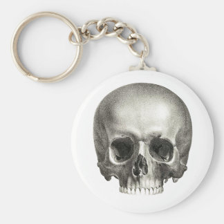 Porte - clé de crâne porte-clé rond