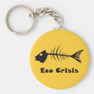 Porte - clé de crise de Fishbone Eco Porte-clé Rond