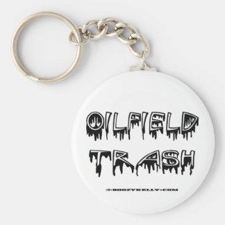 Porte - clé de déchets de gisement de pétrole, porte-clé rond