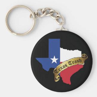 Porte - clé de déchets du Texas Porte-clé Rond