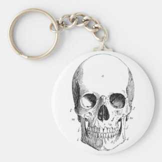 Porte - clé de diagramme de crâne porte-clé rond