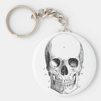 Porte - clé de diagramme de crâne porte-clés