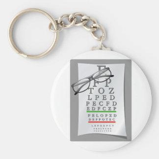 Porte - clé de diagramme d'optométriste porte-clé rond