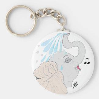 Porte - clé de douche d'éléphant porte-clé rond