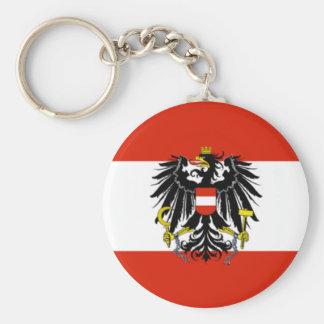 Porte - clé de drapeau de l'Autriche Porte-clé Rond
