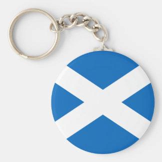 Porte - clé de drapeau de l'Ecosse Porte-clé Rond