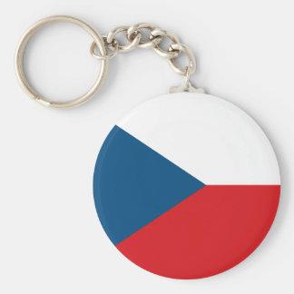 Porte - clé de drapeau de République Tchèque Porte-clés