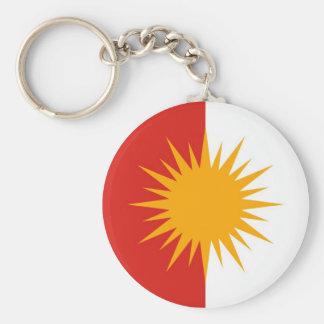 Porte - clé de drapeau de Yezidi Porte-clé Rond