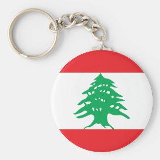 Porte - clé de drapeau du Liban Porte-clé Rond