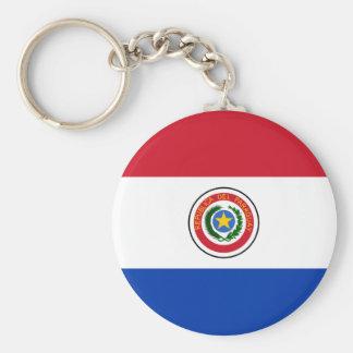Porte - clé de drapeau du Paraguay Porte-clé Rond