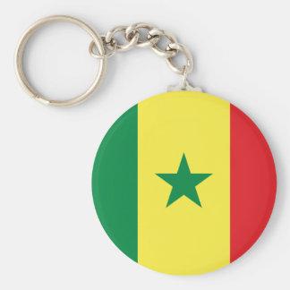 Porte - clé de drapeau du Sénégal Porte-clé Rond
